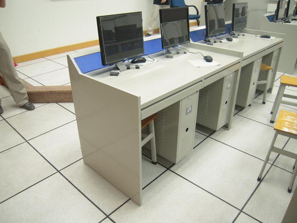 电脑桌 广州 钢制/双人位电脑桌/双人位学
